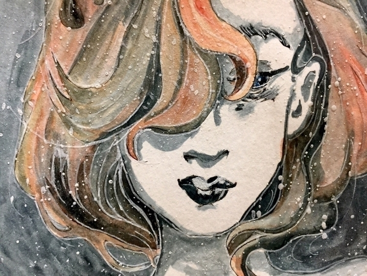 chillout - watercolor, girl, sketch - kezyrgo | ello