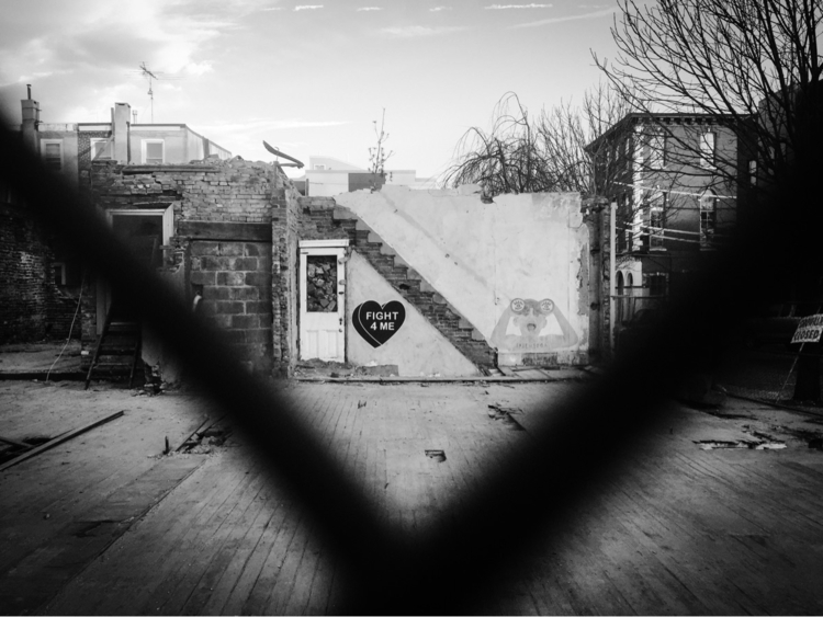 Standing - photography, philly, bw - nightcrawler | ello