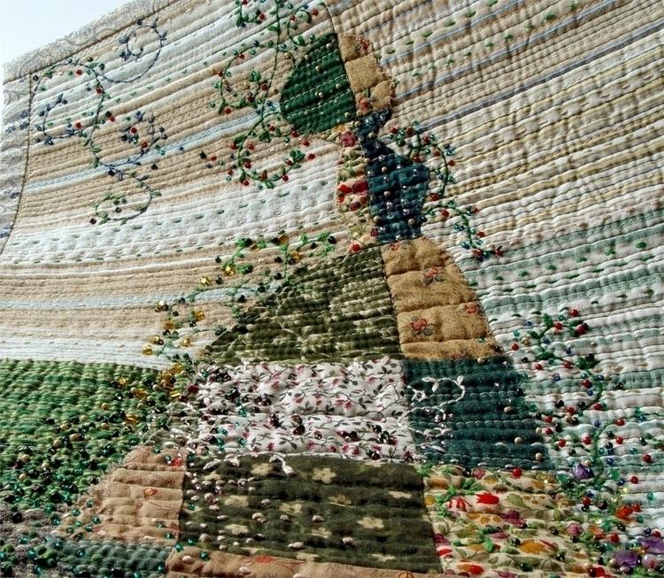 Lady garden - textile art - bozena_wojtaszek | ello