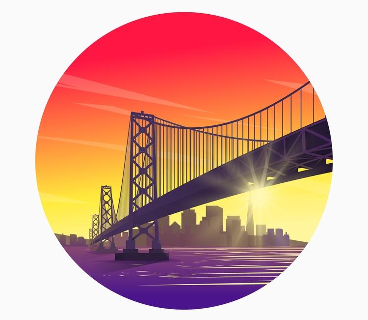Bridge vector illustration Inks - ozant291 | ello
