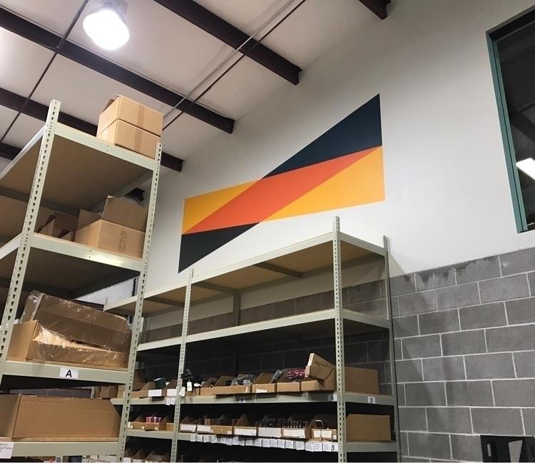 wall painted warehouse - mural, wallart - matt_shurtleff   ello