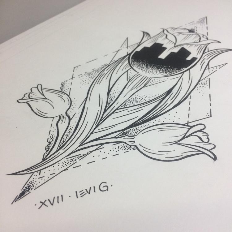 Tulip, city., print, tattoo! - levigreenacres | ello