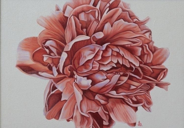 Paeonia 5x7 oil painting Alana  - brandiread   ello