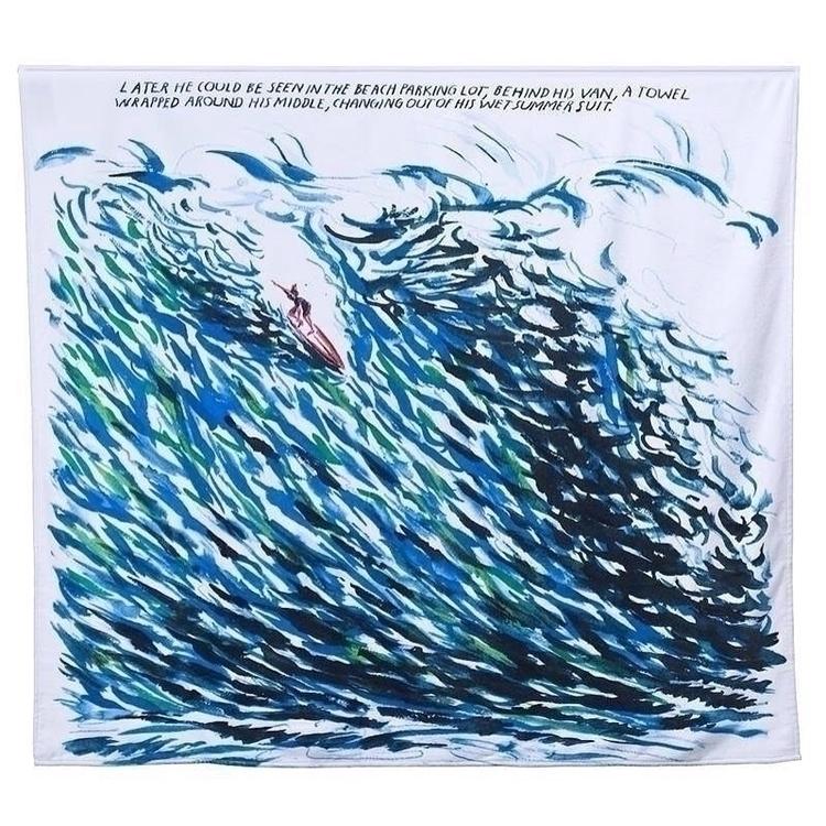 Raymond Pettibon - BeachTowel, ArtProductionFund - karinechaneyin | ello