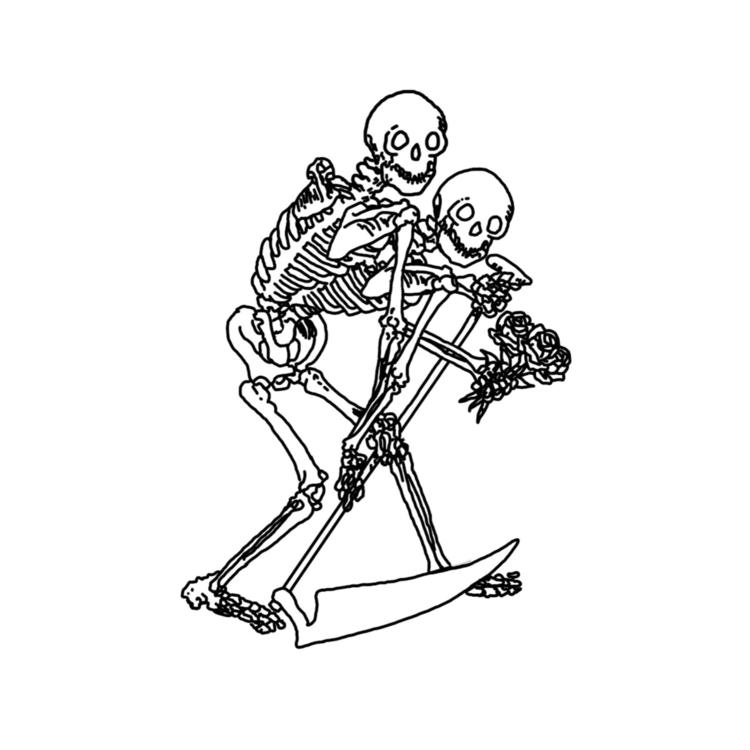 comfort - illustration, death - mikstache | ello