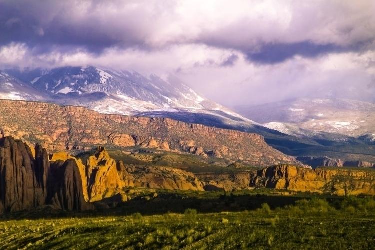 snowy mountains meet red rock d - _samjay_   ello