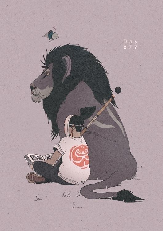 Day 277/365: Lions Den - illustration - 1sles | ello