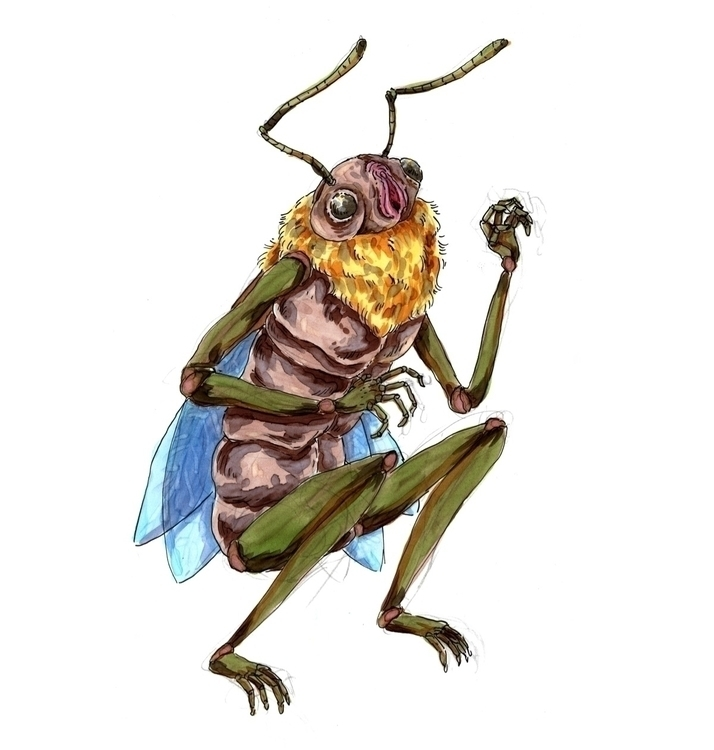 insect, copic, copicmarker, illustration - skeenep | ello