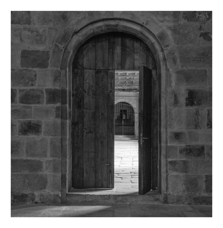 Cloister door. San Salvador de  - guillermoalvarez | ello