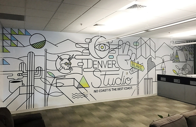 mural finished painting Deloitt - andrewhoffman | ello
