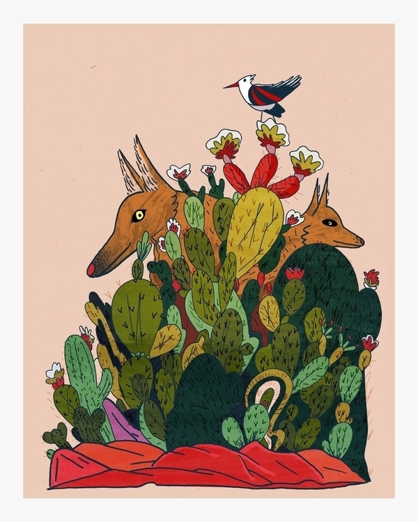 Coyote - illustration, design, art - dylansgriffith   ello