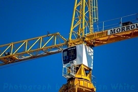 Yellow Crane 11/29/13 Greenwich - jwgalleries | ello