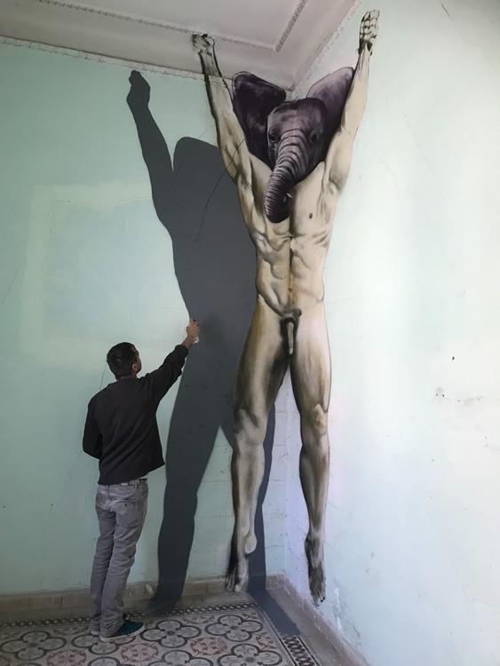 Spray paint wall. Anamorphic pa - dimitrisliossis | ello
