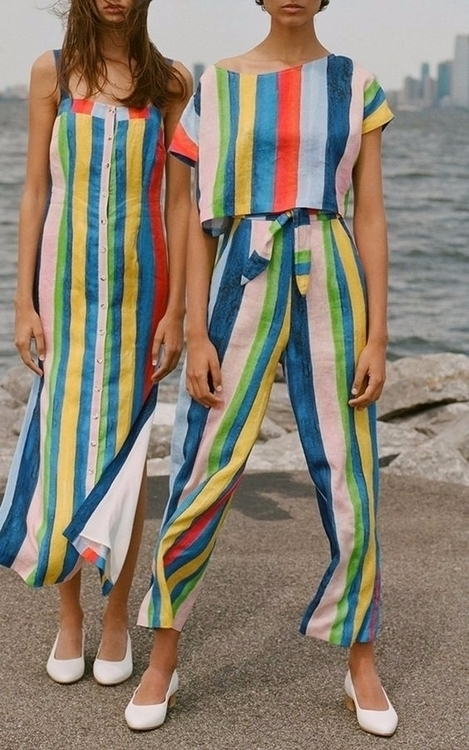 Rainbow-stripe-high-waist-pants - ohgoodgoods_mag | ello