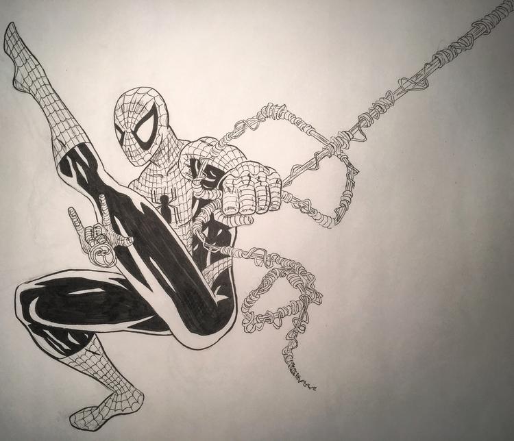 ink - Spiderman, drawing, comics - talonracer | ello