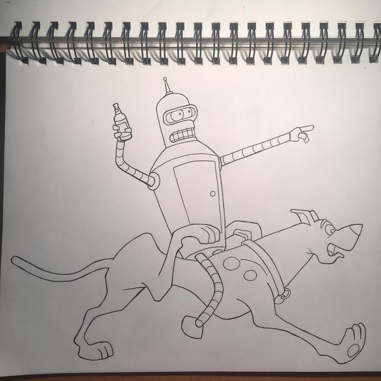 Future Mystery Machine mashup - drawing - talonracer   ello