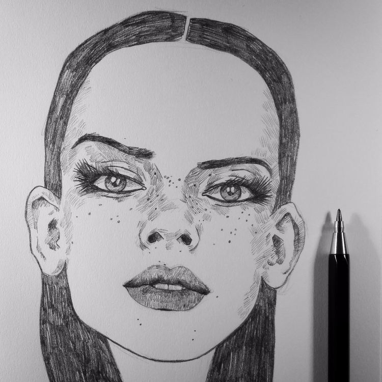 freckles - sketchbook, sketch, pencil - mrbraintree   ello