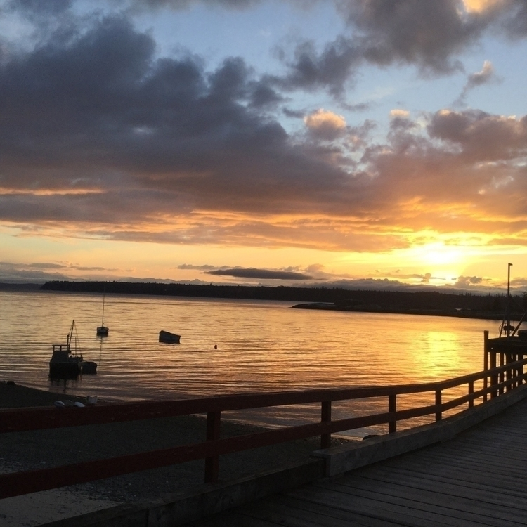 Sunset Landing Cortes Island - sunset - laurabalducci | ello