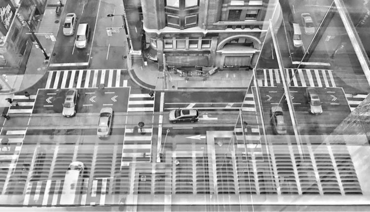 Rain day - toronto, urban, monochrome - jamesanok | ello