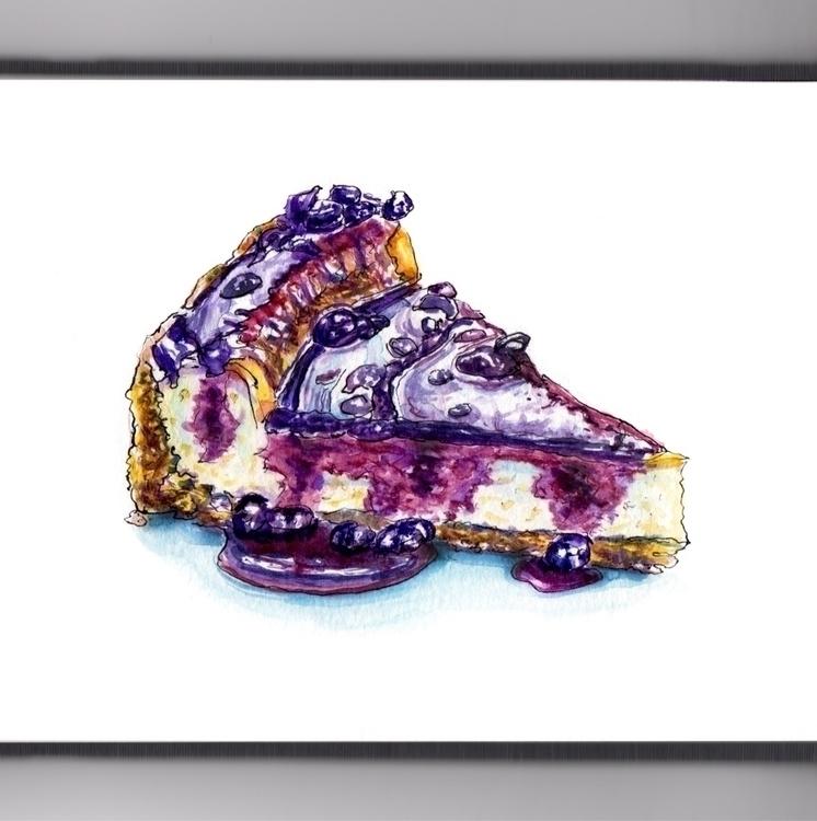 Joy Blueberry Puddles - watercolor - doodlewash | ello