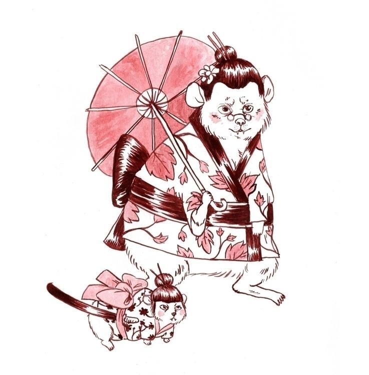 japan, kimono, katana, samurai - skeenep | ello