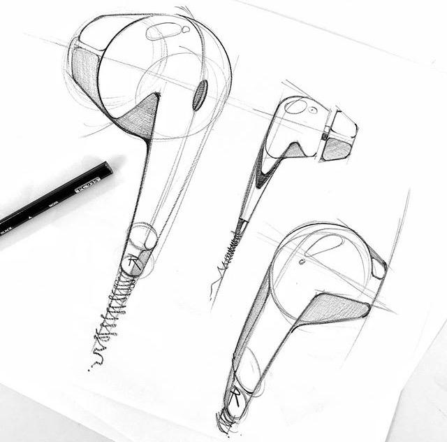 Sketches - sketching, earphones - letsdesigndaily | ello