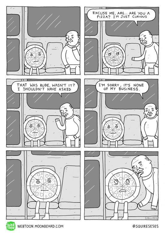 pizza comic, Webtoon - moonbeard - squireseses | ello