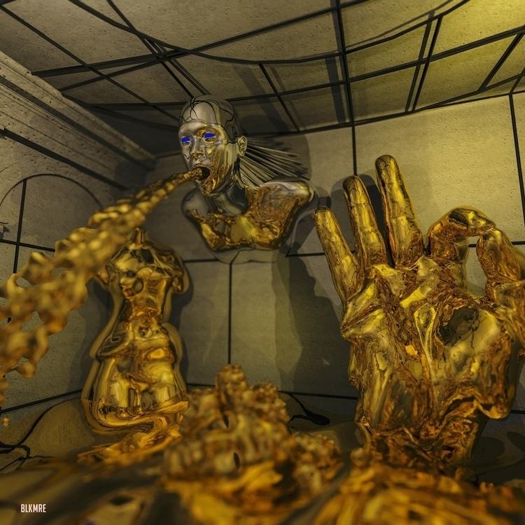 Molten Gold 3 - 360 Video - art - cblackmoore | ello