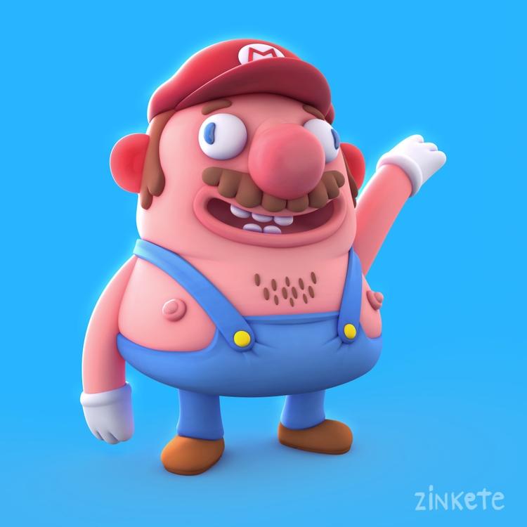 Super Mario Zink - illustration - zinkete | ello
