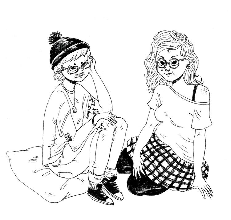 Jane - art, ink, blackwhite - skeenep | ello