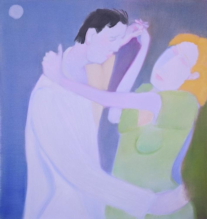 Moon Dance oil/canvas, 36x34 - art - markbarry | ello