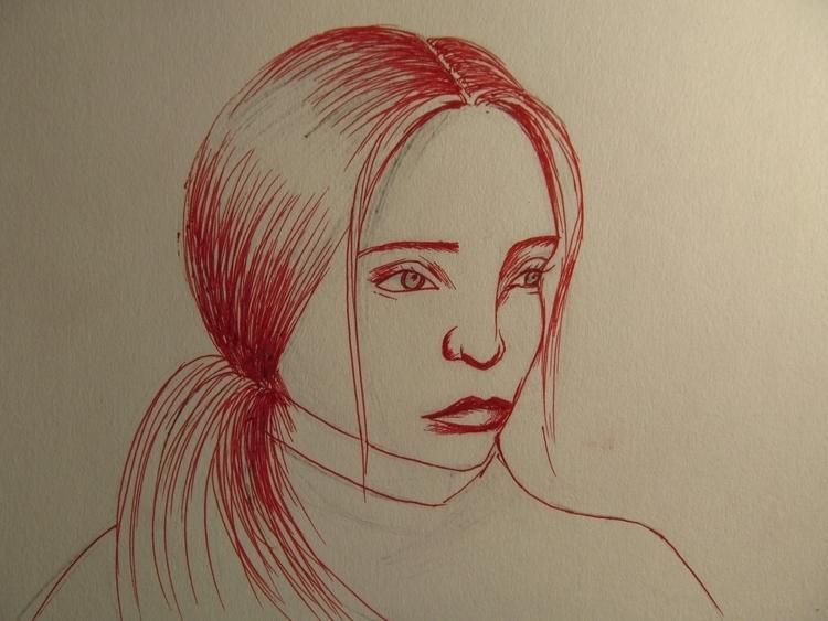 art, portrait, face, girl - tricefoils | ello