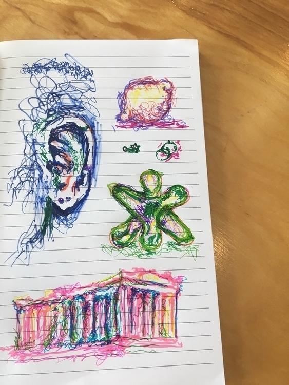 scribble studies - ear, lemon,  - elliewril3y | ello