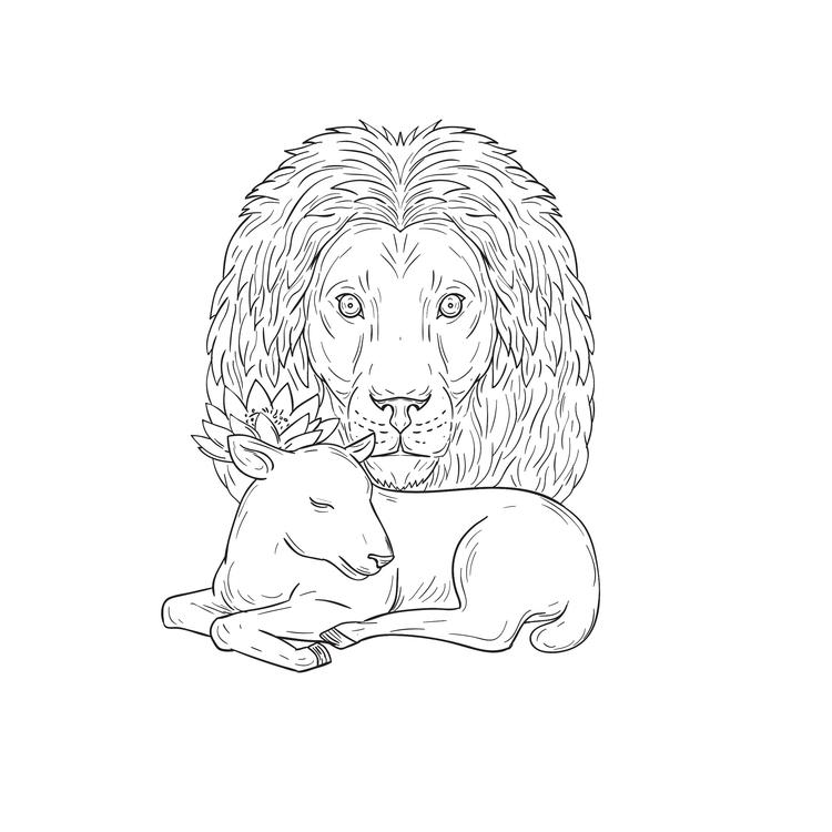 Sleeping - Lion, Watching, Lamb - patrimonio | ello