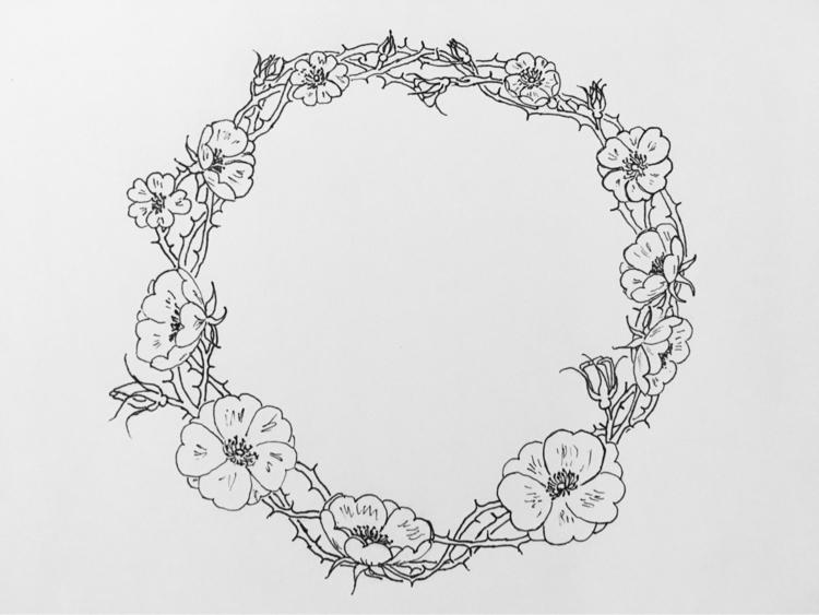 doodle - sketch, drawing, wildrose - cerebellarium | ello