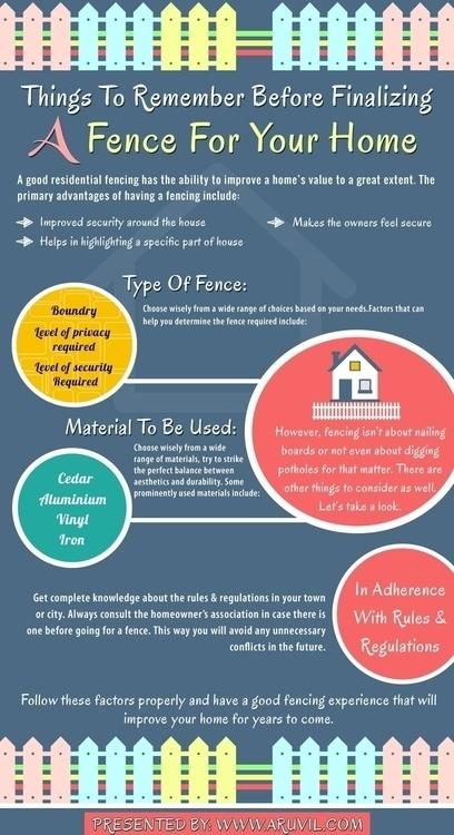 good residential fencing helps  - aruvilinternational | ello