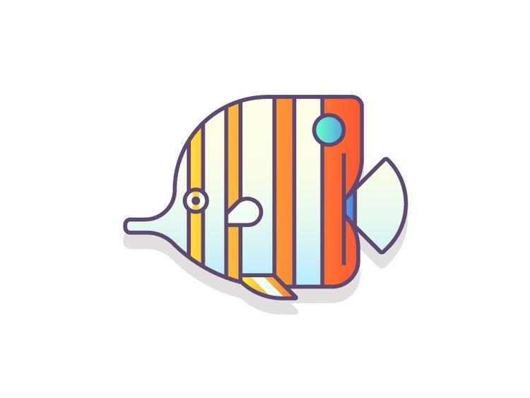 Copperband Butterfly Fish (60/3 - darumacreative | ello