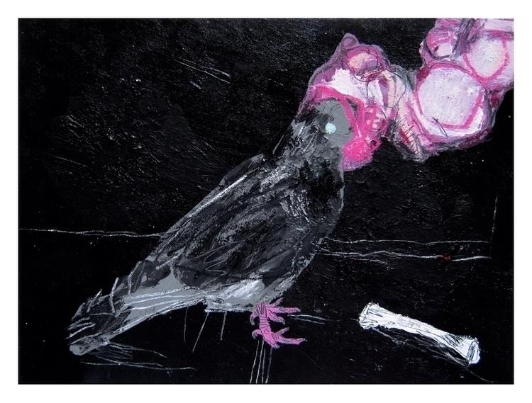 Pigeon. 30x24cm, 2015 - art, hell - carpmatthew   ello