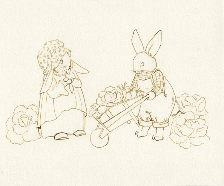 Sneak-Peek Bunny Sketch Sharing - gretchenellenpowers | ello