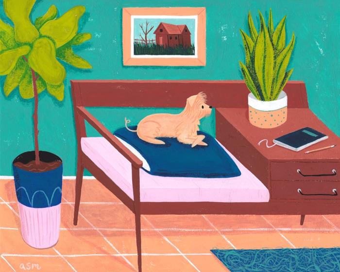 Reggie - illustration, dog, puppy - alexander_mostov | ello