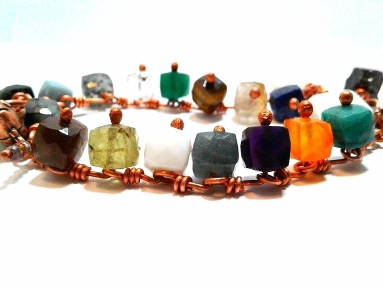 redesigned gemstone bracelet -  - amycousinjewelry   ello