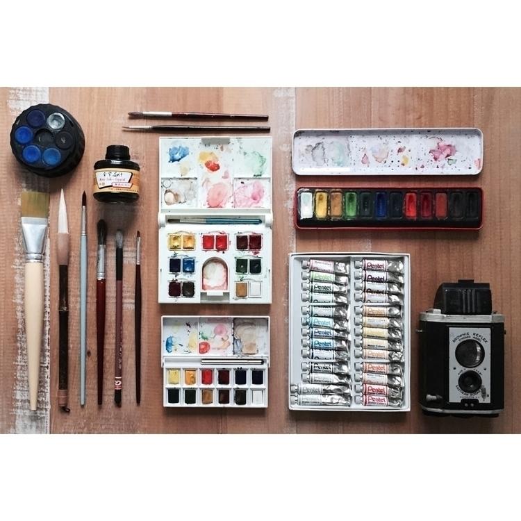 tools ⌖ - watercolor, art - etakaki   ello