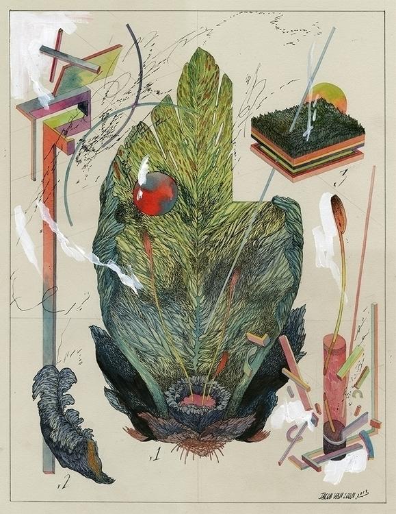Flower III Ink, graphite, water - jacobvanloon | ello