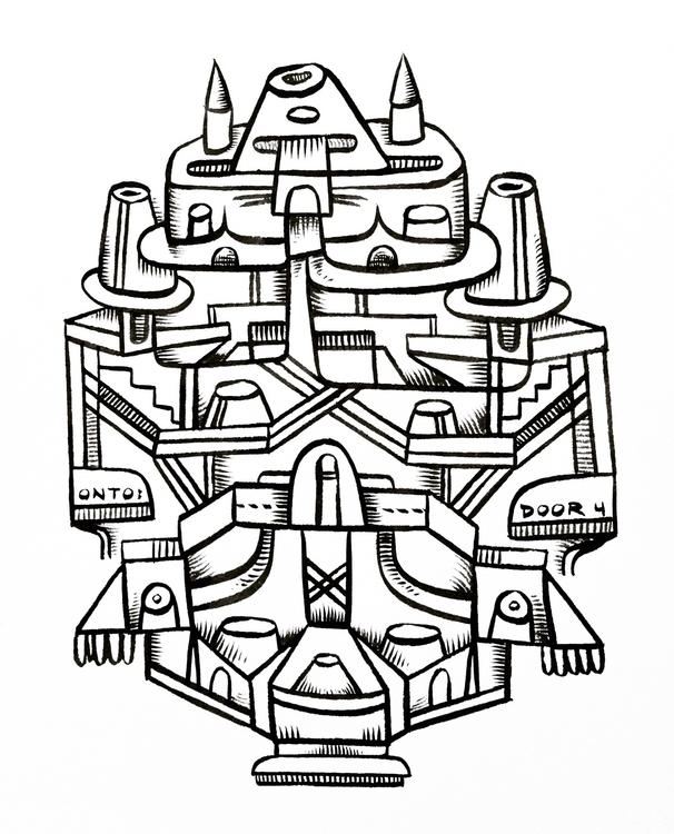 Door 4, India ink - mikebiskup | ello