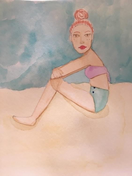portrait, doodle, dailysketch - geekerelle | ello