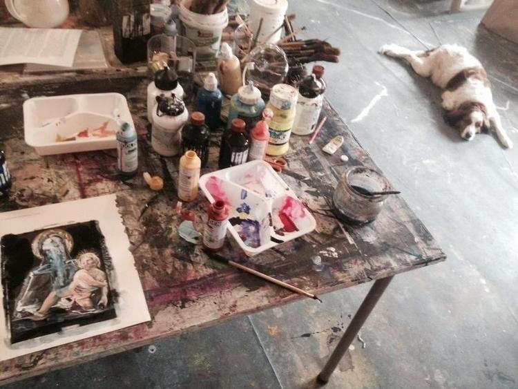 studio Painting#artist#studioli - poespas | ello