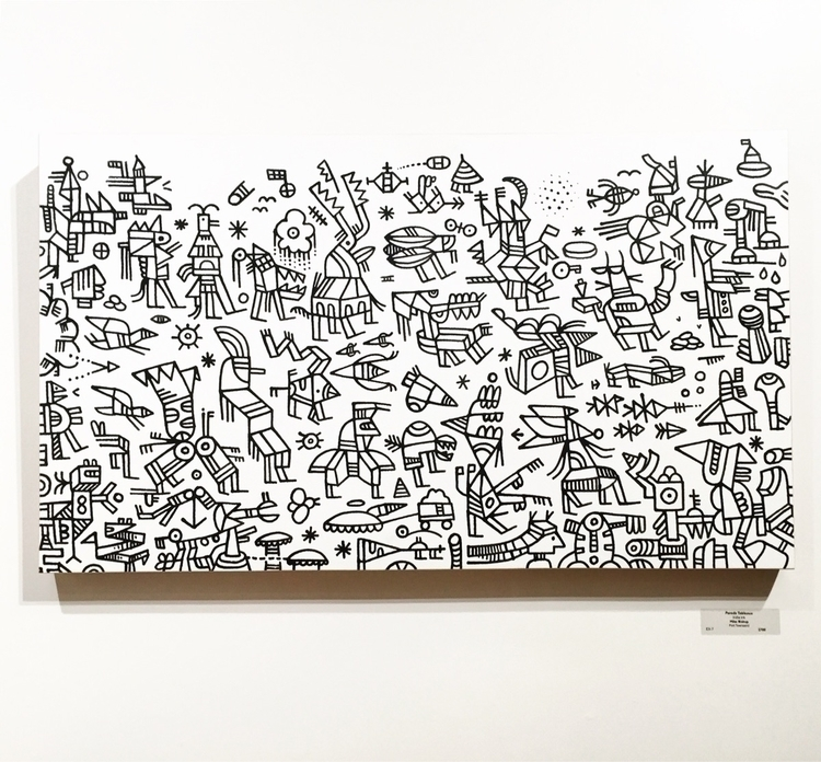 Parade Tableaux, India ink pape - mikebiskup | ello