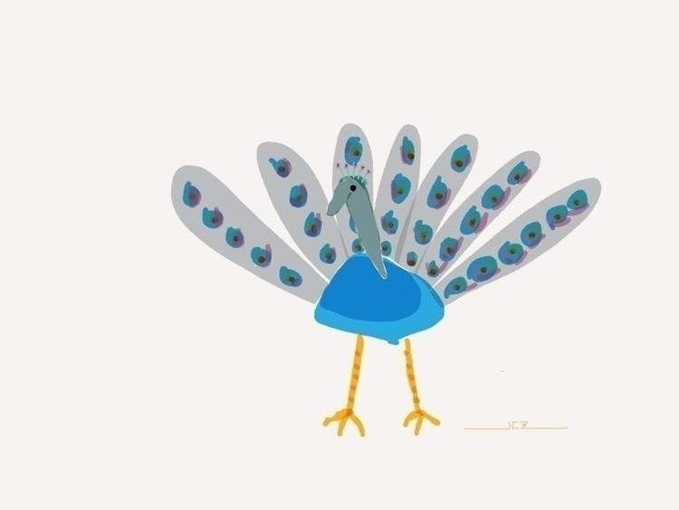 Peacock Sketch - peacock, sketch - iquitoz | ello