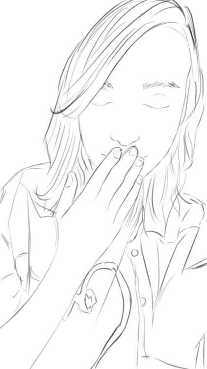 :) post , sketch girlfriend hop - rareegg_illustrations   ello