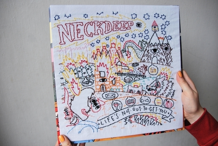 Neck Deep album cover (original - sienie | ello